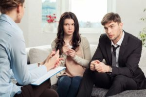 Distinctively Christian marriage counseling couple